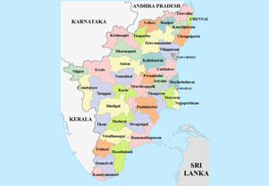 Map Of Tamil Nadu